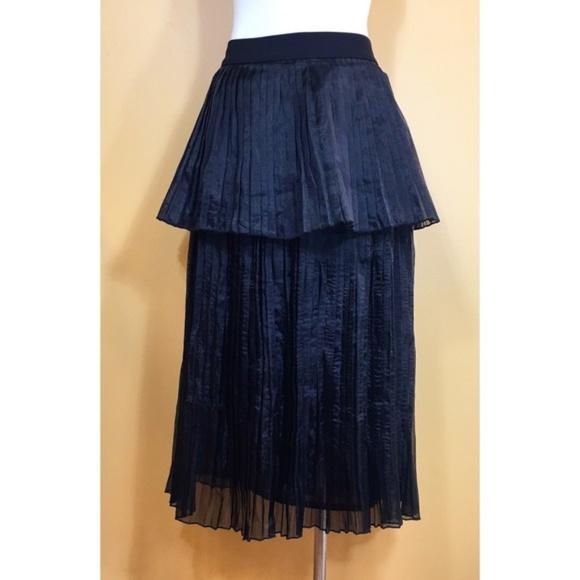 ASOS Dresses & Skirts - NWT ASOS Black Layered Pleated Skirt